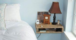 Mesita de noche con madera de Pallet regenerado / Bedside table with reclaimed w...