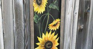 16x48window screen hand painted ,wall art , indoor And outdoor art