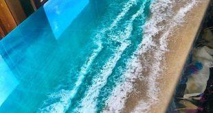 Ocean Epoxy Table