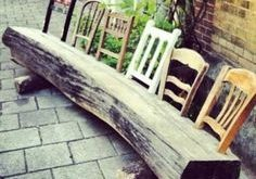 Quirky & fun!! great DYI with a large piece of reclaimed wood...10 DIY Repurpose...