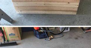 creative pallet bench with storage ideas
