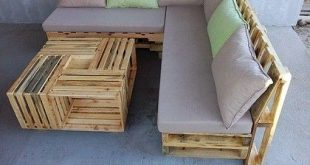 Pallet Sofa with Built-in Storage Space