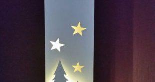Sternpaar Massivholz gebeizt