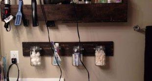 24 schöne DIY-Badezimmerpalettenprojekte für ein rustikales Gefühl (20) #bad...