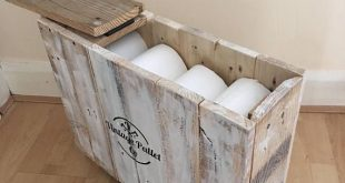 Badezimmer Aufbewahrungsbox | Rustikaler Shabby Chic | Toilettenpapierhalter | Box | Bauernha...