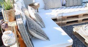 DIY Palettenlounge, Dekorationsideen für Terrasse und Garten, #dekorationsidee...