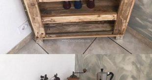DIY Pallet Corner Cabinet Design – #DIYPalletDeck CabinetDesign #built-up