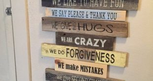 DIY Pallet Family Rules Sign