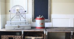 DIY Pallet Storage Console