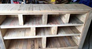 DIY Pallet Storage Unit / Media Console