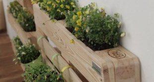 Diese Holzpalettenpflanzgefäße werden mit den frischesten Holzpaletten hergest… #WoodWorking