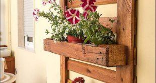 Ein köstlicher Wandpflanzer und eine Holzpalette! Hier sind 20 DIY-Ideen für ....