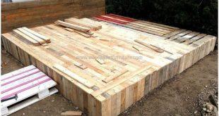 Holzpaletten Garten Pavillon Deck mit Möbeln - Real Savings