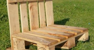 How To Make A Pallet Bench | Old pallets can be used to make a pallet bench for ...