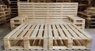 Palettenbettprojekt mit Stauraum. #holzbearbeitung #holzbearbeitung #palettenbet