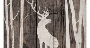 Stag Silhouette Wood Wall Art