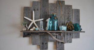 Wood Shelf, Rustic Wood Shelf, Rustic Coastal Decor Reclaimed Wood Shelf, Pallet Shelf, Display Shelf, Wall Shelf