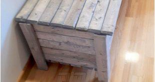 Wooden Pallet Storage Chest Idea