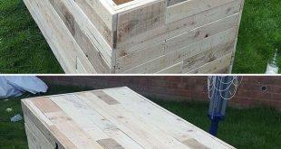 stunning pallet storage box ideas for outdoor