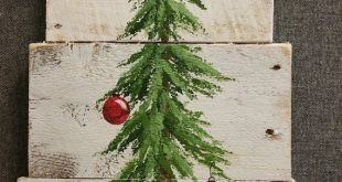 super Weihnachtsbaum Zeichen Bauernhaus Dekor